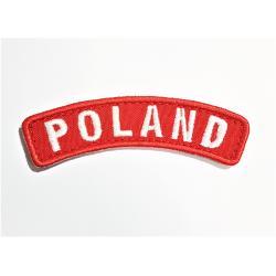 Naszywka Łuczek POLAND czerwony z rzepem