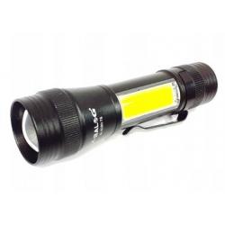 Latarka akumulatorowa biało-czerw LED XML T6 + COB