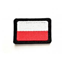 Naszywka flaga Polski mocowana na rzep