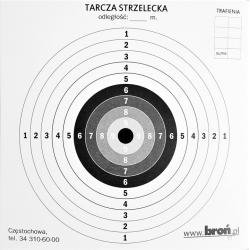 Tarcza strzelecka tekturowa 14x14 cm kmp.100 szt.