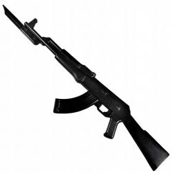 Karabin AK47 do nauki samoobrony z bagnetem gumowy