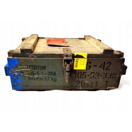 Skrzynia po granatach RG-42 wym. 50x40x19cm gat. II