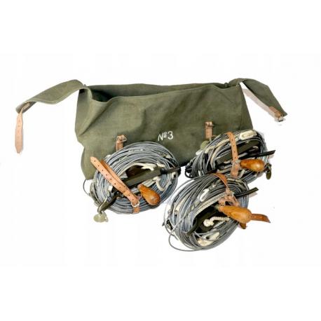 Zestaw wojskowy odciągów do masztu w torbie