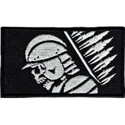 Naszywka - Husarz - czarny, rzep