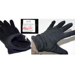 Rękawiczki żołnierskie wzór 544/MON czarne NOWE
