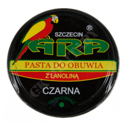 Polska pasta do butów z lanoliną - czarna