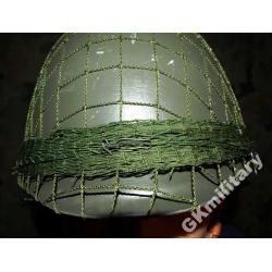 Siatka maskująca na hełm WP ze snajperką - zielona