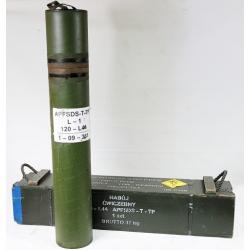 Skrzynia po 120mm amunicji do Leoparda +TUBA 115cm