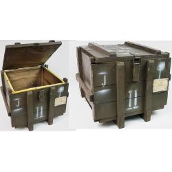 Skrzynia wojskowa kufer brązowy wym 50x47x40 deska