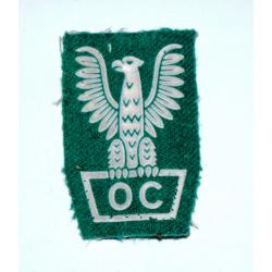 Naszywka Obrony Cywilnej - Orzeł zielony