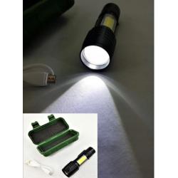 LATARKA taktyczna LED kieszonkowa ZOOM USB